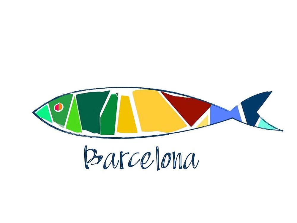 Logo manifestación sardinas Barcelona - 6000 sardine a Barcellona