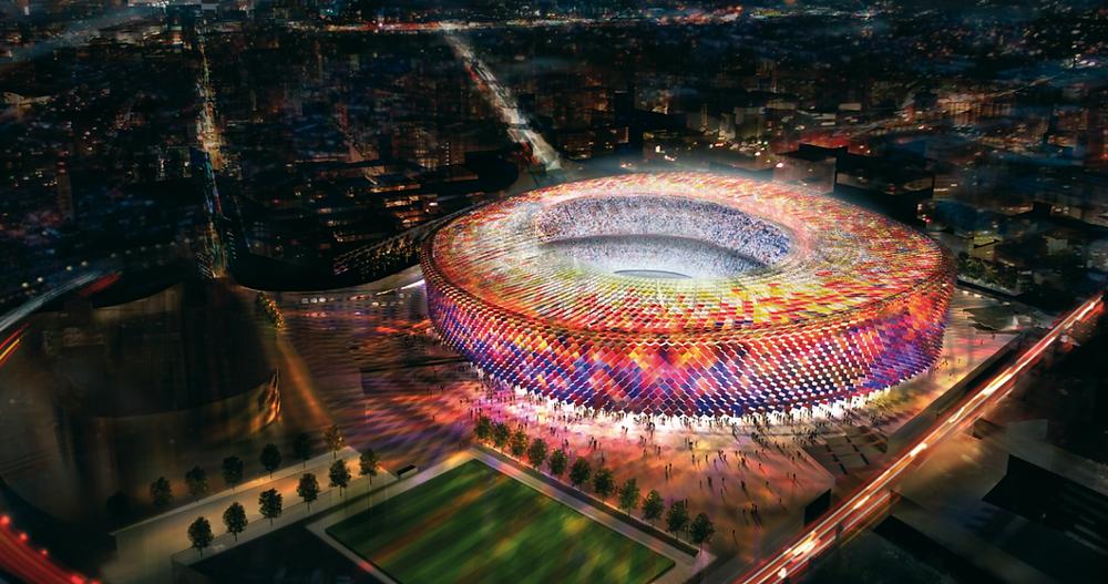Il nuovo Camp Nou di Barcellona