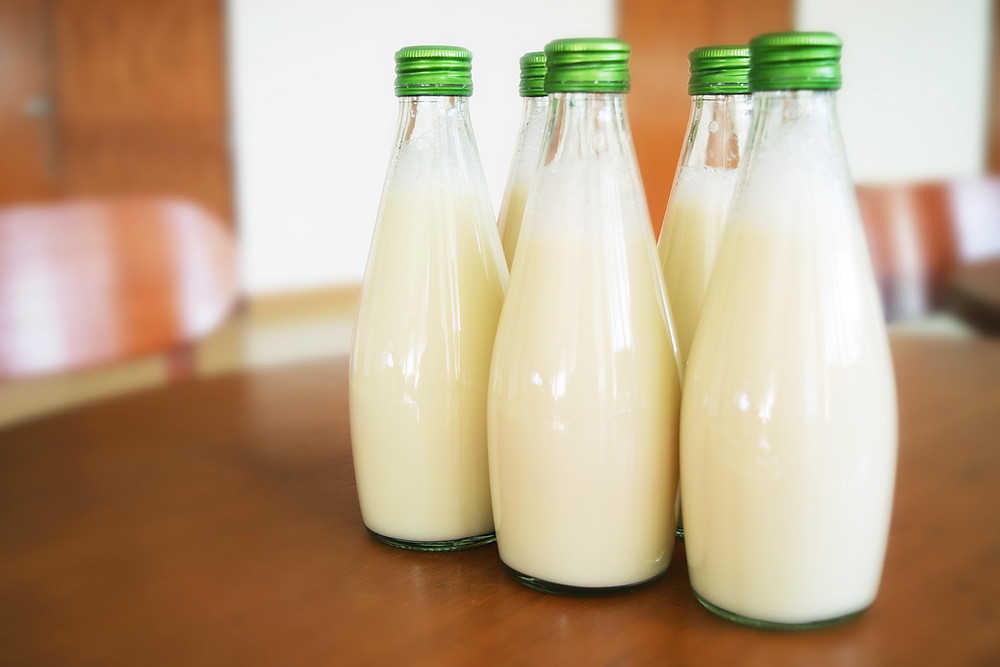 clean milk bottles