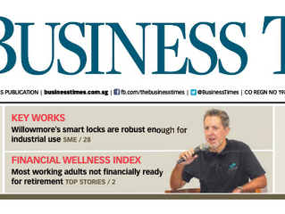 Willowmore smart padlock story is featured on The Business Times