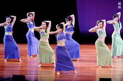 民族舞群舞表演