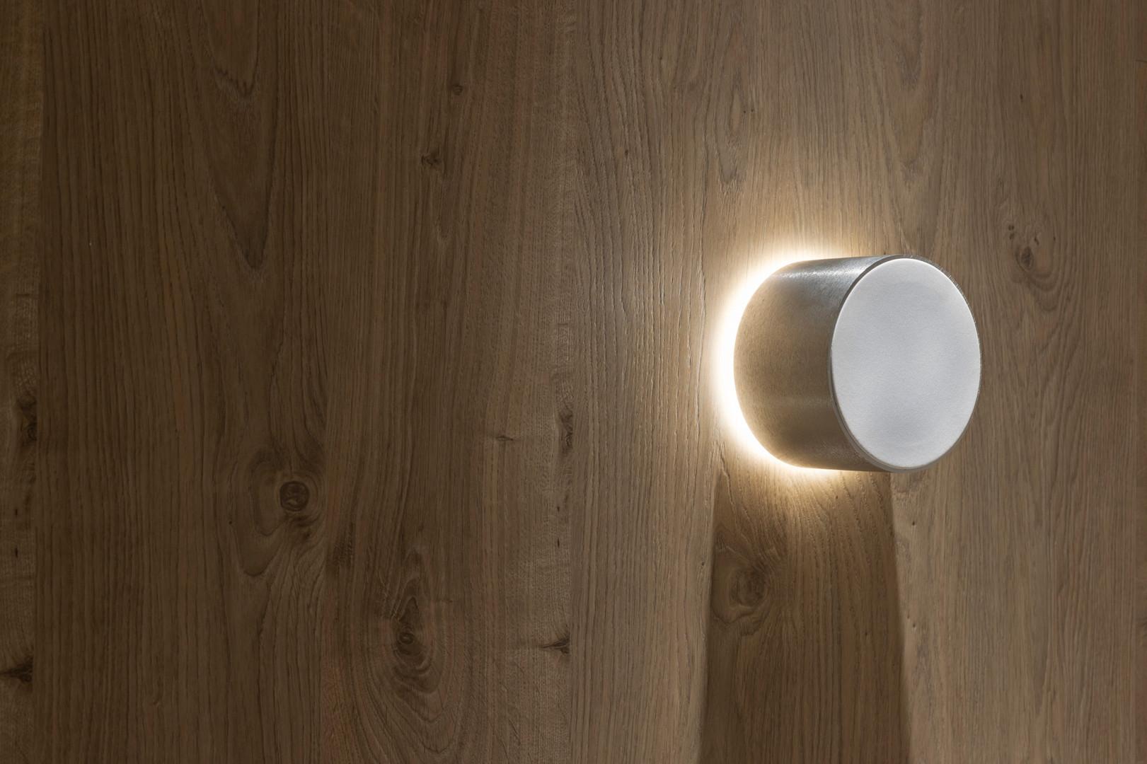Alto-falante Magna Audio - Aura 3 Natural escovado com luz