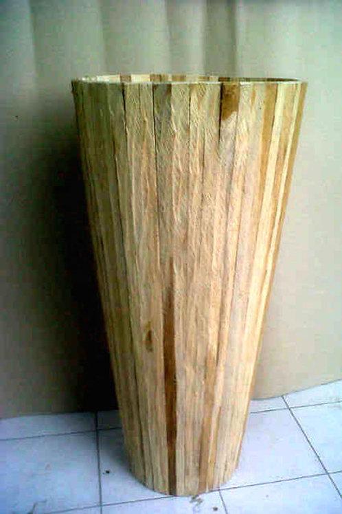 Round Vase Teak Wood