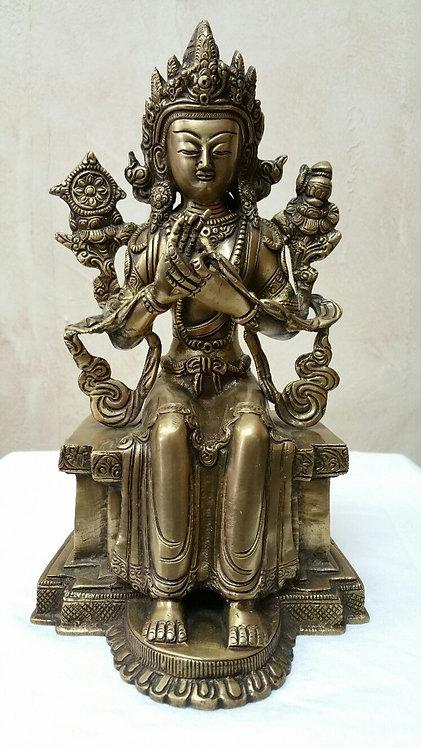 Buddhist Bronze Weisse Tara Statue