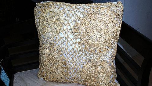 Square Raffia Pillow