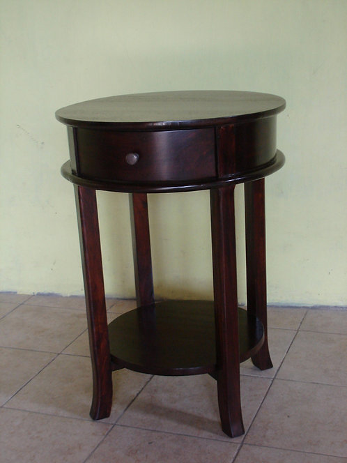 Round Side Table One Drawer