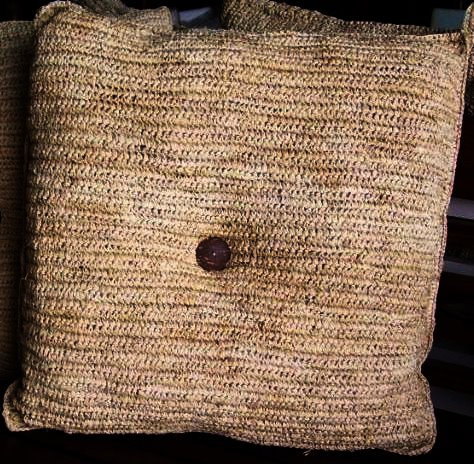 Square Raffia Pillow