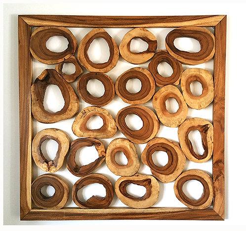 Munggur Wood Square Panel