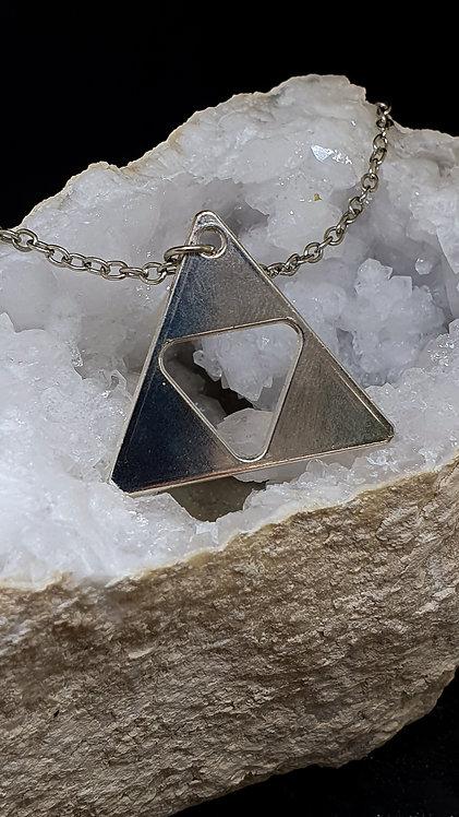 Triforce i sølvfarge