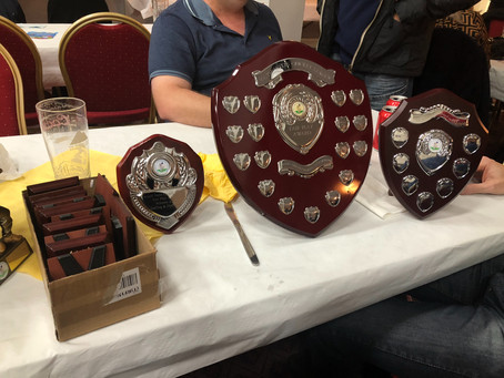Runners up trophies received