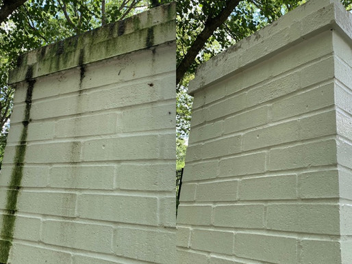 Painted White Brick before and after!