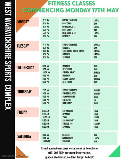 New Class Timetable