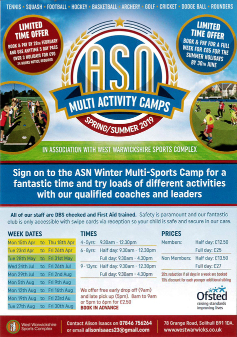 Spring/Summer Multi Activity Camps