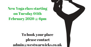 New Yoga Class - Tuesday 04th February