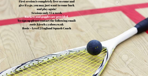 Junior Squash Coaching....
