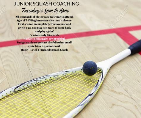 Junior Squash Coaching....