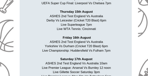 This Weeks Live Sport...
