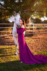 Senior Portrait with horse Yuba City