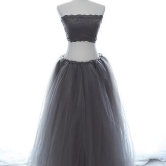 Gray tulle skirt