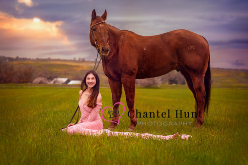 Horse and girl in Sutter Buttes