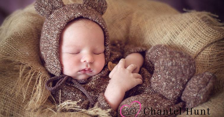 newborn in bear costume