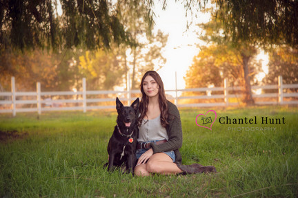 Senior Girl with her dog