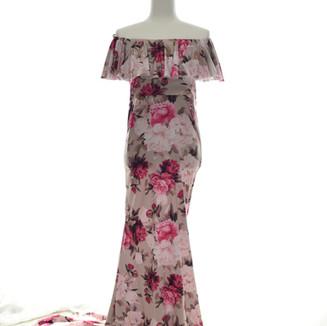 gray pink floral off shoulder dress.jpg