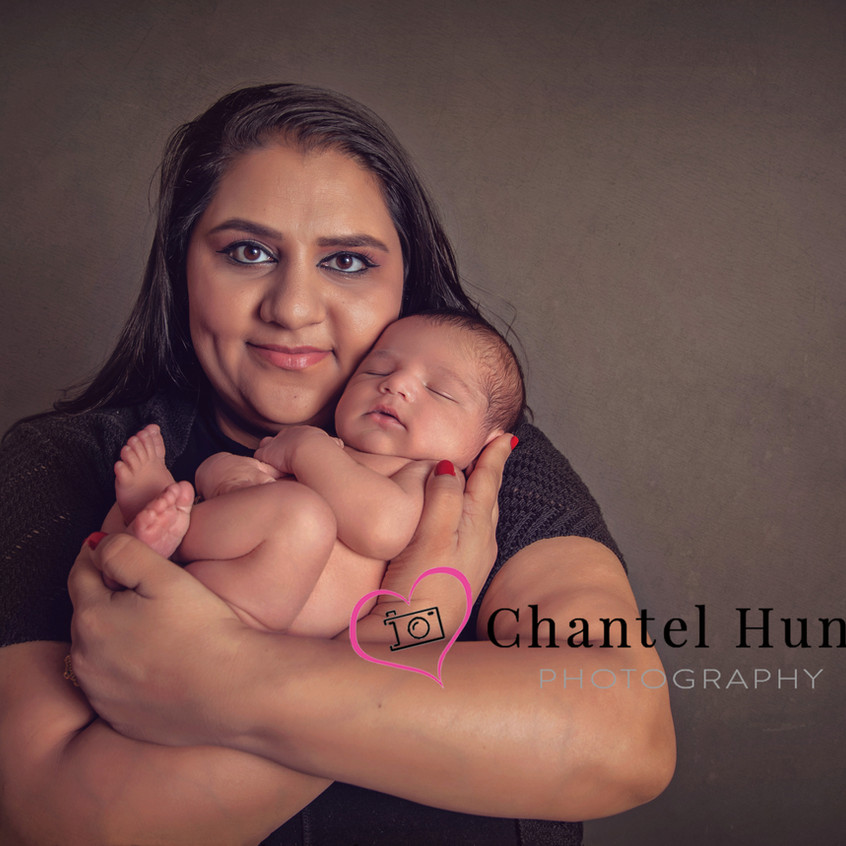 Mom and newborn son.  Newborn pictures captured by Chantel Hunt Photography Northern California