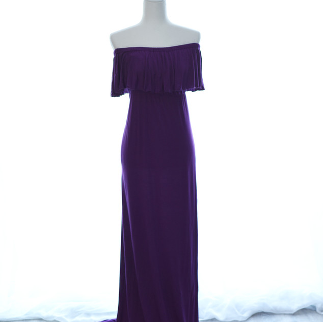 Plum Maternity gown