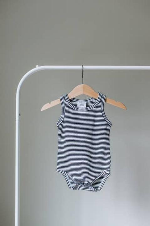Striped Sleeveless Bodysuit