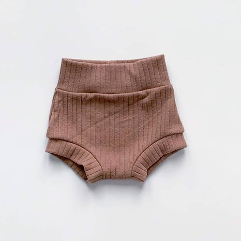 Dusty Rose Ribbed Shorties