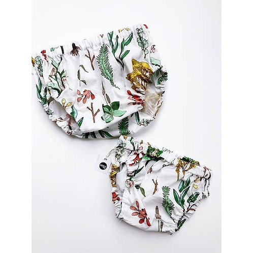Floral Study Bloomer with Ruffle Waist