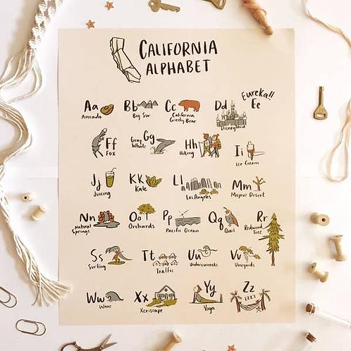 California Alphabet 16x20 Poster