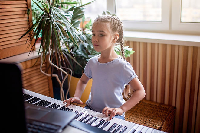 Girl at Keyboard Workstation 1 (small fi