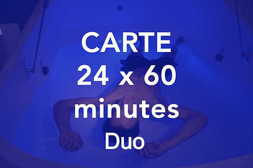 CARTE 24x60 minutes Duo