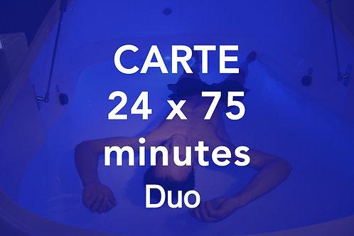CARTE 24x75 minutes Duo