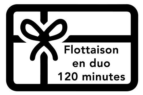 BON DE FLOTTAISON EN DUO   120 minutes