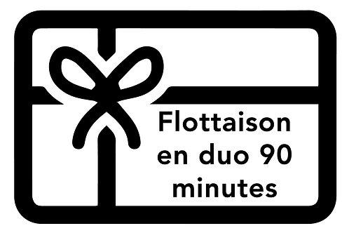 BON DE FLOTTAISON EN DUO   90 minutes
