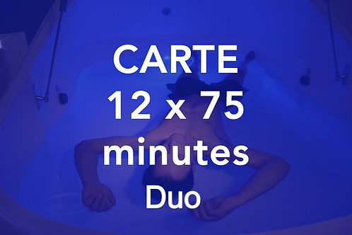 CARTE 12x75 minutes Duo