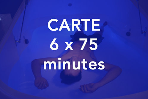 CARTE 6x75 minutes