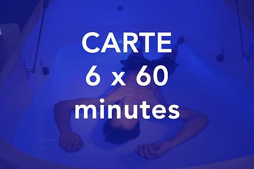 CARTE 6x60 minutes