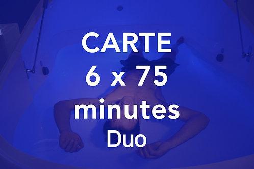 CARTE 6x75 minutes Duo