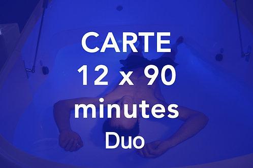 CARTE 12x90 minutes Duo