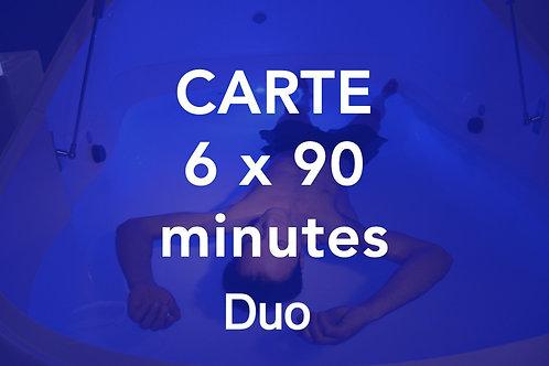 CARTE 6x90 minutes Duo
