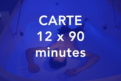 CARTE 12x90 minutes