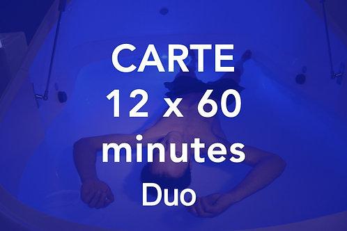 CARTE 12x60 minutes Duo