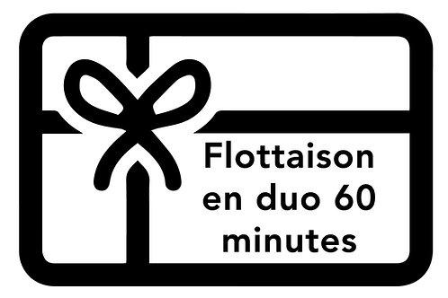 BON DE FLOTTAISON EN DUO | 60 minutes