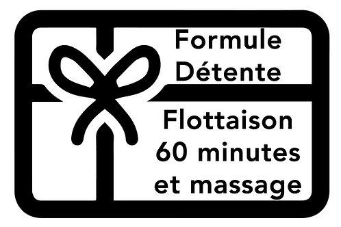 BON DÉTENTE | FLOTTAISON 60 minutes et MASSAGE