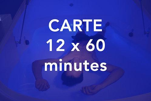 CARTE 12x60 minutes