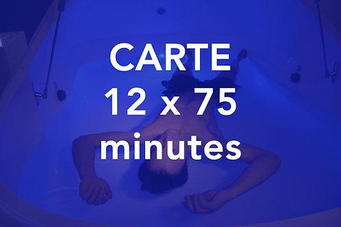 CARTE 12x75 minutes